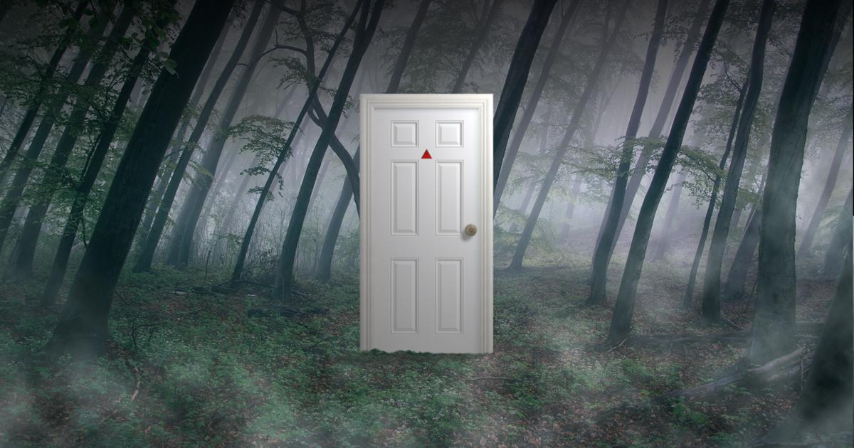 Strange White Door in the Hellgate Forest