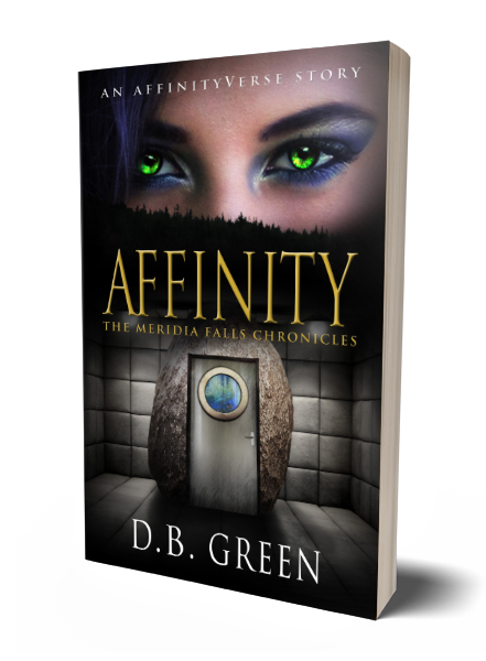 The Meridia Falls Chronicles 4 - Affinity 3D Cover (DB Green)