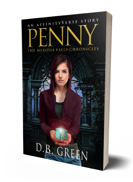 The Meridia Falls Chronicles - Penny 3D Cover (DB Green)