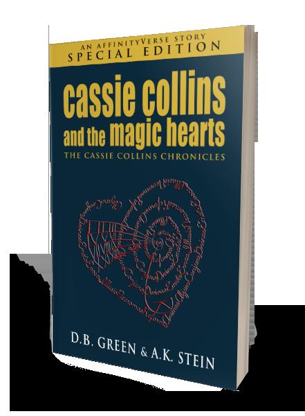 The Cassie Collins Chronicles - Magic Hearts SE 3D Cover (DB Green & AK Stein)