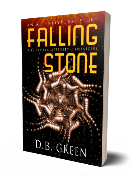 The Stolen Affinity Chronicles - Falling Stone 3D Cover (DB Green)